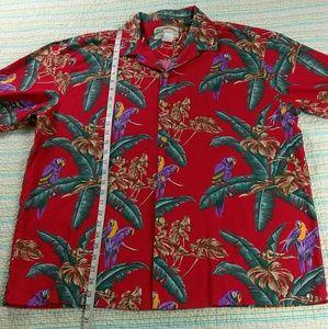 a35b2ea4 Paradise Found Shirts - Paradise Found XL Magnum PI Jungle Parrot Shirt